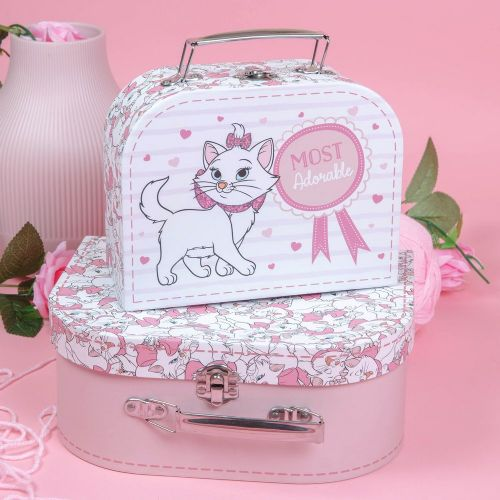 Disney Marie Pink Storage Vanity Cases Aristocats Little Girls Gift Bedroom Accessory